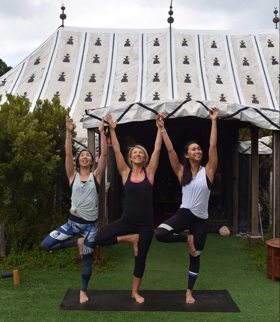 Peninsula Hot Springs wellness calendar yoga