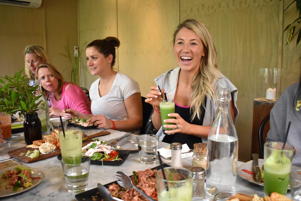 Having lunch with Peninsula Hot Springs ambassador Steph Prem