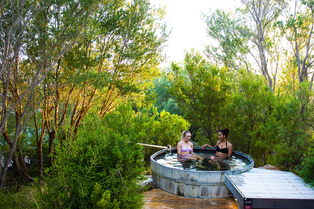 peninsula hot springs hot tub bathing with friends