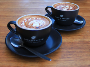 Latte art perfection at Rock Paper Scissors, the coffee beans used are by Toby's Estate.