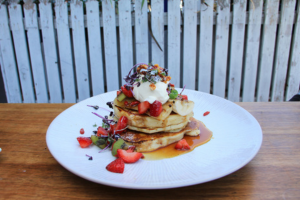 Delicious, sweet, decadent Hot Cakes at Rock Paper Scissors, one of their most popular dishes