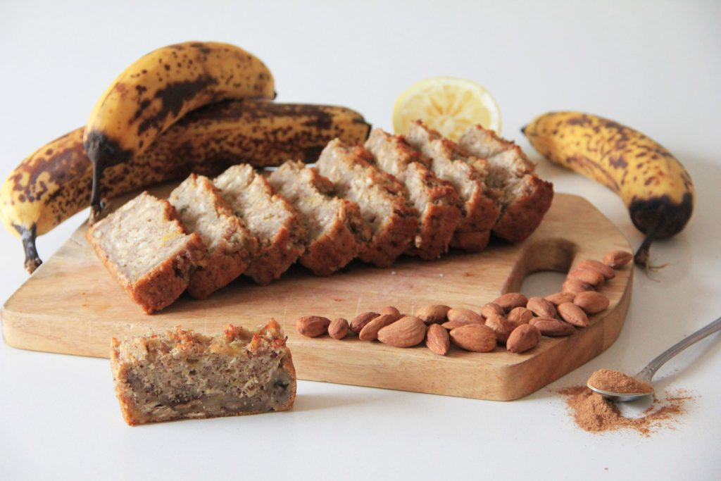 Healthy fat-free, refined sugar free Banana Bread